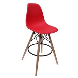 Red Copenhagen Bar Stool