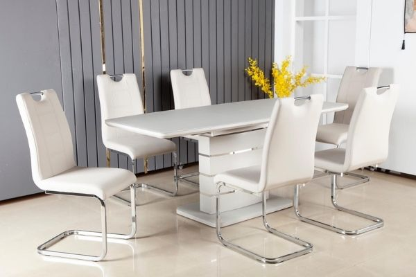 Modena Light Grey Extension Table