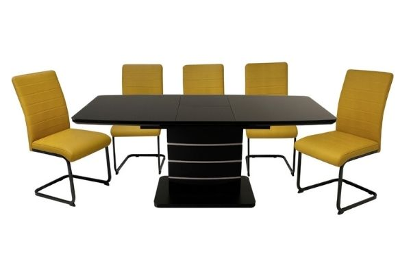 Modena Black Extension Table