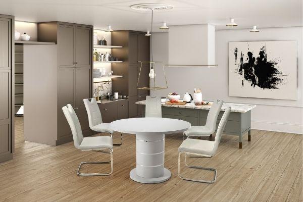 Modena Light Grey Round Table