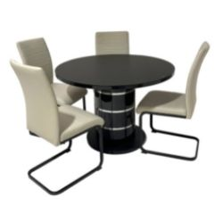 Modena Black Round Table