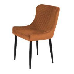 Talia Orange Velvet Chair